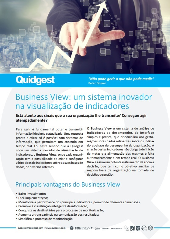 brochura Business View da Quidgest